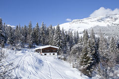 Winter in Swiss alps. Royalty Free Stock Photography