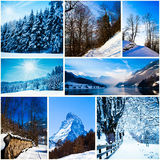 Winter in swiss alps Stock Photo