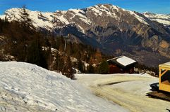 Winter and the Swiss Alps Royalty Free Stock Images