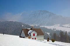 Winter in alps royalty free stock images