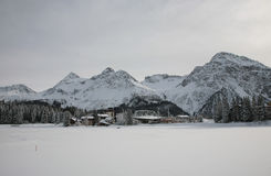 Winter swiss landscape Royalty Free Stock Image