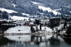 A winter in Switzerland Stock Photography