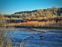 Winter szenischer Arkansas River in Süd-Colorado Lizenzfreie Stockfotografie