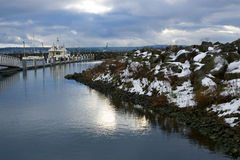 Winter szenisches Porttownsend Washington Stockbilder