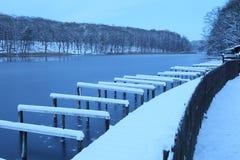 Winter-Tag an einem See, Berlin Stockfoto