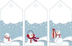 Winter tags Royalty Free Stock Photography
