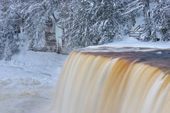 Winter Tahquamenon Falls Stock Photography