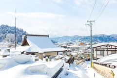 Winter in Takayama ancient city in Japan Royalty Free Stock Photography