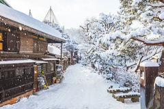 Winter in Takayama ancient city in Japan.  Royalty Free Stock Photos