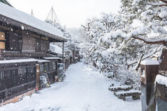 Winter in Takayama, sightseeing travel japan Royalty Free Stock Photo