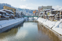 Winter in Takayama, sightseeing travel japan Stock Images