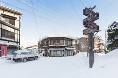 Winter in Takayama, sightseeing travel japan Stock Photos