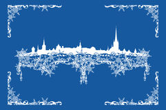 Winter Tallinn decor Stock Images