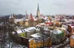 Winter in Tallinn Stock Image