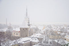 Winter tallinn Stock Image