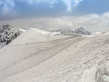 Winter in Tatra Bergen lizenzfreie stockbilder