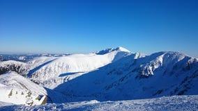 Winter in Tatra Bergen Stockfotos