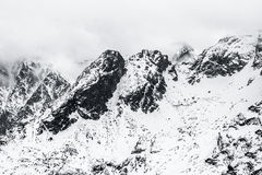 Winter Tatry Mountains Stock Photography