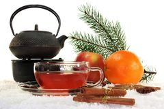 Winter tea Royalty Free Stock Images