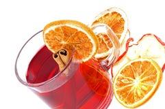 Winter tea. With orange and cinnamon Royalty Free Stock Image
