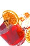 Winter tea. With orange and cinnamon Stock Images