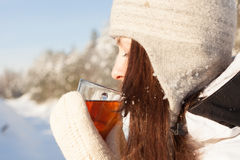 Winter tea Stock Image