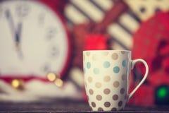 Winter tea in a cup Stock Photos