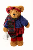 Winter Teddy. Teddy bear ready to ice skate Stock Images