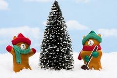 Winter Teddy Bears Royalty Free Stock Photography