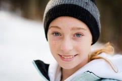 Winter teen Stock Photography