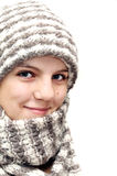 Winter teenage  girl Stock Photos