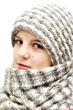 Winter teenage girl Stock Images