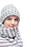 Winter teenage girl Royalty Free Stock Images