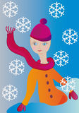 Winter teenager girl Royalty Free Stock Photos