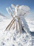 Winter teepee royalty free stock photos