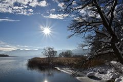 Winter at Tegernsee Royalty Free Stock Image