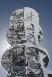 Winter telecommunication tower Stock Image