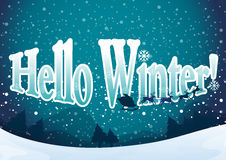 A winter template Stock Images