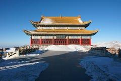 Winter temple Royalty Free Stock Photos