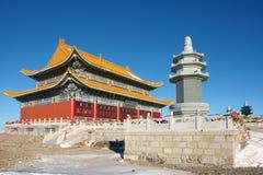 Winter temple Stock Photo