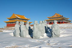 Winter temple Royalty Free Stock Images