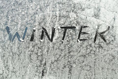Winter text Stock Image
