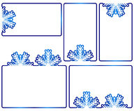 Winter text boxes Royalty Free Stock Photo