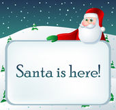 Winter text frame with Santa Stock Photos