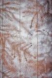 Winter texture on boards Stock Photos