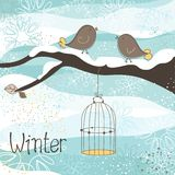 Winter Theme Royalty Free Stock Photography
