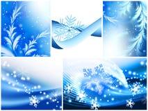 Winter theme. Concept background set Stock Photos