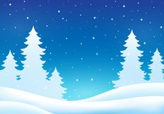 Winter theme background 8 royalty free illustration