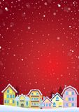 Winter theme with Christmas town image 4 Stock Image