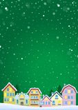 Winter theme with Christmas town image 5 Royalty Free Stock Photo